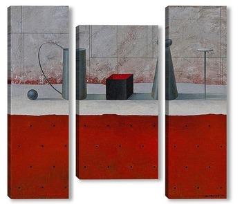 Модульная картина Натюрморт с черным ящиком