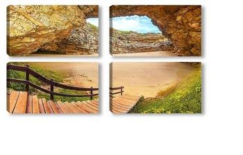 Модульная картина Спуск к пещере