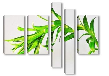 Модульная картина растение