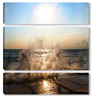 Модульная картина Брызги моря