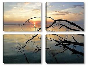 Модульная картина Закатное