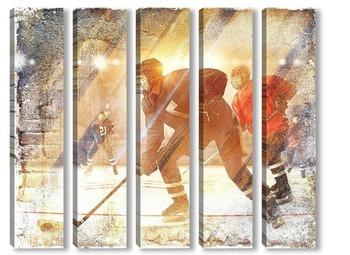 Модульная картина Игра в хоккей