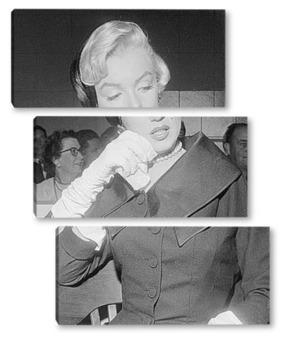 Модульная картина Плачущая Мерелин Монро.