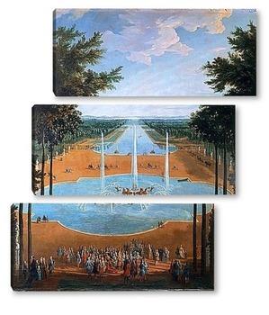 Модульная картина Фонтан Аполлона и большой канал в Версале