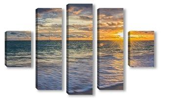 Модульная картина Солнце над Атлантикой