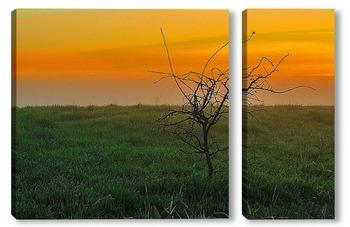 Модульная картина Один в поле