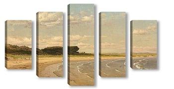 Модульная картина Второй пляж, Ньюпорт