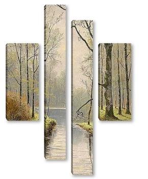 Модульная картина Мотив из леса Шпреевальд
