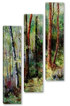 Модульная картина Мелодия леса