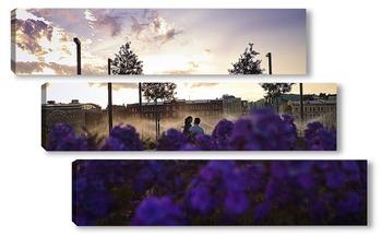 Модульная картина лето в парке Музеон