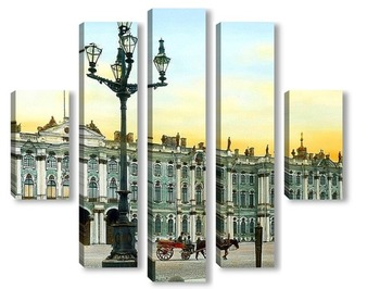 Модульная картина Санкт-Петербург. Эрмитаж, дворцовая площадь