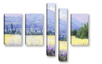 Модульная картина Холмы, поля и люцерны, Чили