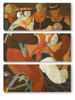 Модульная картина Невеста, 1924