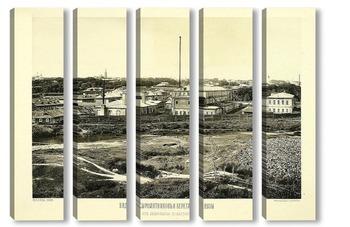 Модульная картина Сыромятники, берег Яузы, 1884