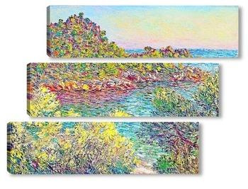 Модульная картина Пейзаж близ Монтекарло