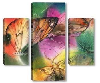 Модульная картина бабочки