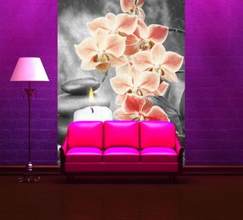 Фотообои Оранжевые орхидеи