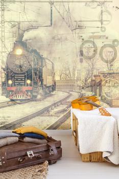 Фотообои Ретро поезд